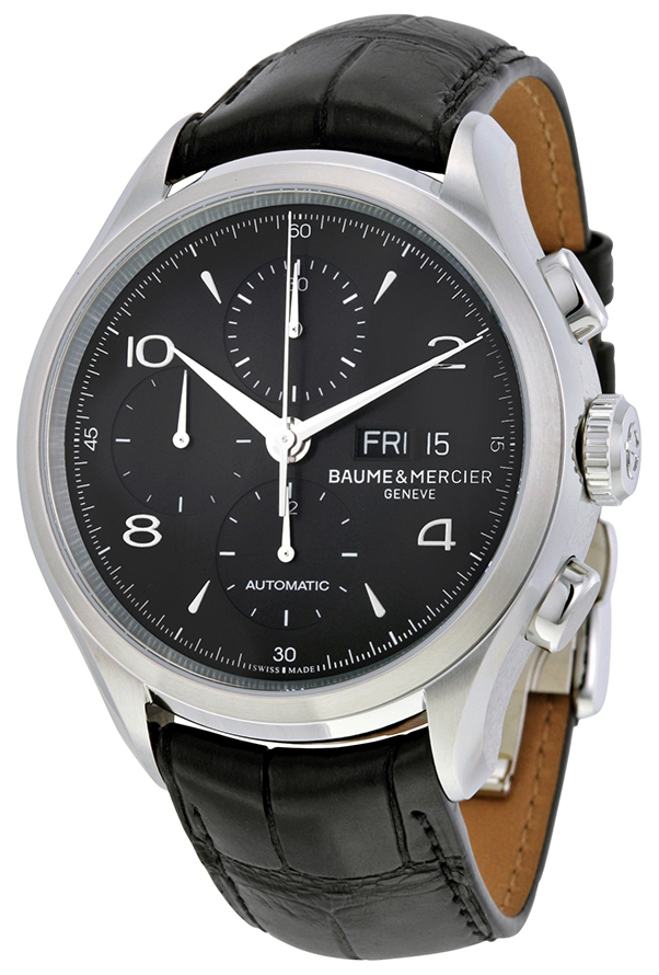 Baume & Mercier Clifton Herreklokke 10211 Sort/Lær Ø43 mm - Baume & Mercier