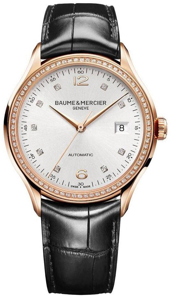 Baume & Mercier Clifton Herreklokke M0A10194 Sølvfarget/Lær - Baume & Mercier