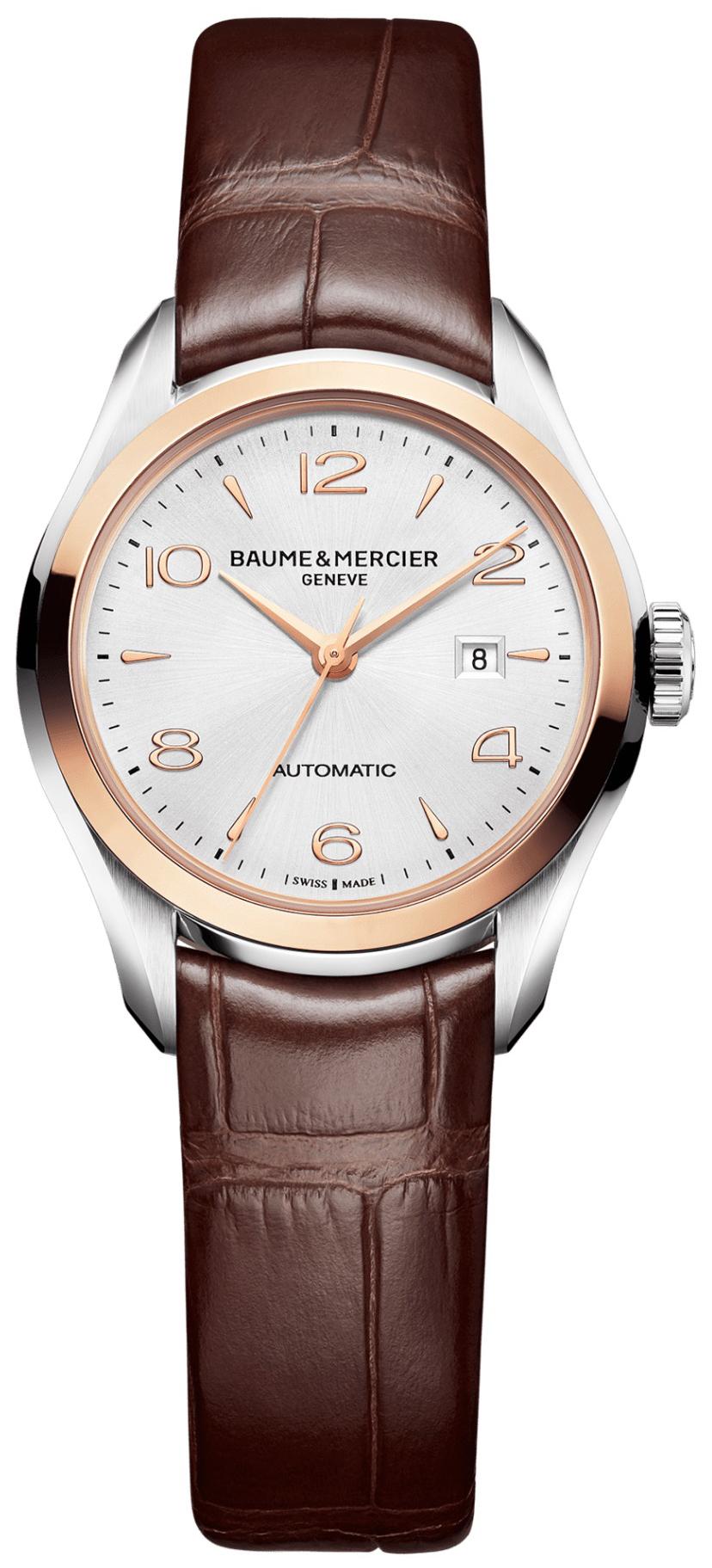 Baume & Mercier Clifton Dameklokke M0A10208 Sølvfarget/Lær Ø30 - Baume & Mercier