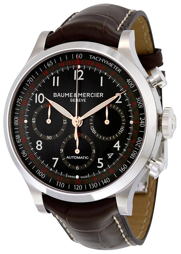 Baume & Mercier CAPELAND Herreklokke MOA10067 Sort/Lær Ø44 mm - Baume & Mercier