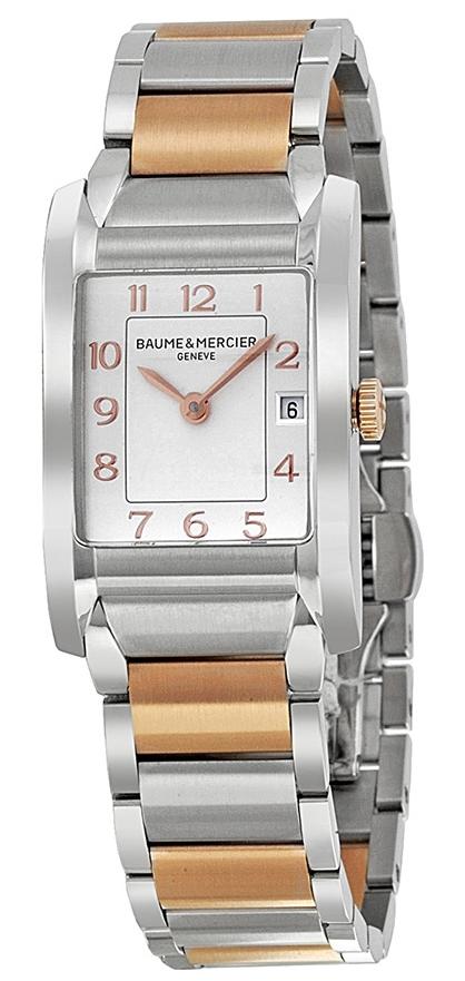 Baume & Mercier HAMPTON Dameklokke MOA10108 Sølvfarget/18 karat - Baume & Mercier
