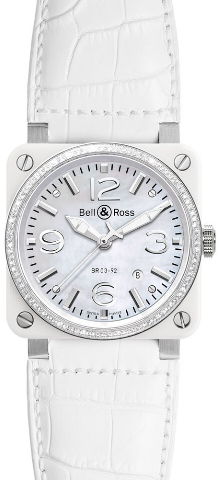 Bell & Ross BR 03-92 Herreklokke BR0392-WH-C-D-SCA Lær Ø42 mm - Bell & Ross
