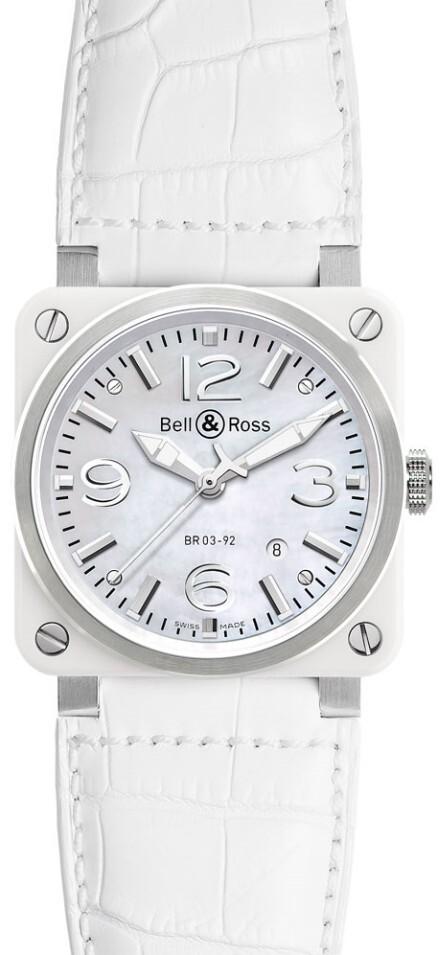 Bell & Ross BR 03-92 Herreklokke BR0392-WH-C-SCA Lær Ø42 mm - Bell & Ross