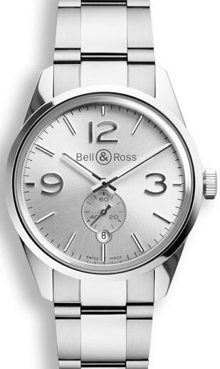 Bell & Ross BR 123 Herreklokke BRG123-WH-ST-SST Sølvfarget/Stål - Bell & Ross