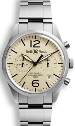 Bell & Ross BR 126 Herreklokke BRV126-BEI-ST-SST Brun/Stål Ø41 - Bell & Ross