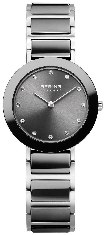 Bering Ceramic Dameklokke 11429-783 Grå/Stål Ø29 mm - Bering