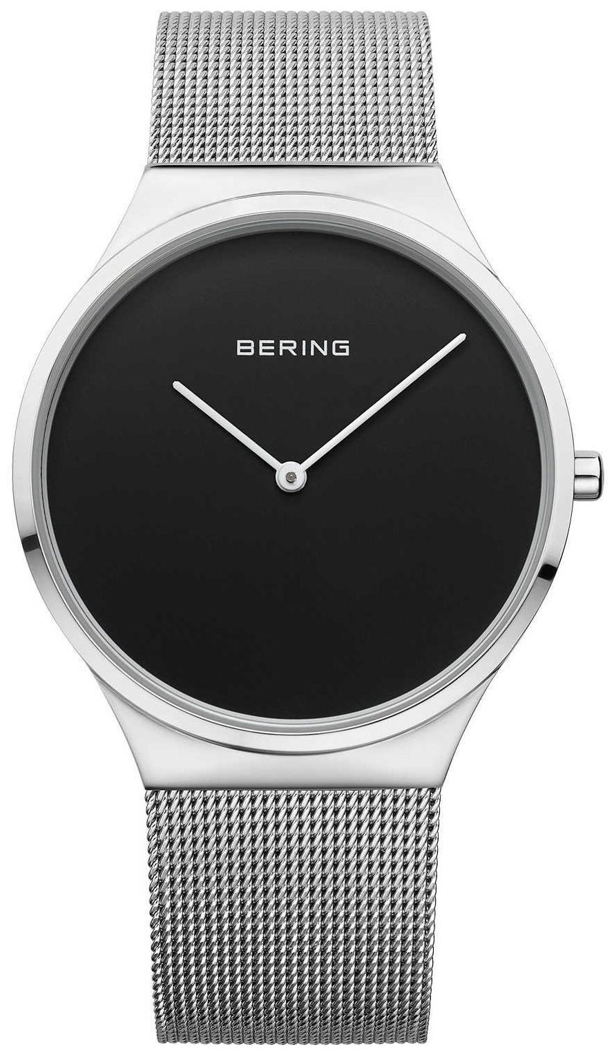 Bering Classic 12138-002 Sort/Stål Ø38 mm - Bering