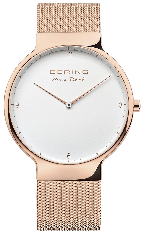 Bering Max Rene Herreklokke 15540-364 Hvit/Rose-gulltonet stål Ø40 - Bering