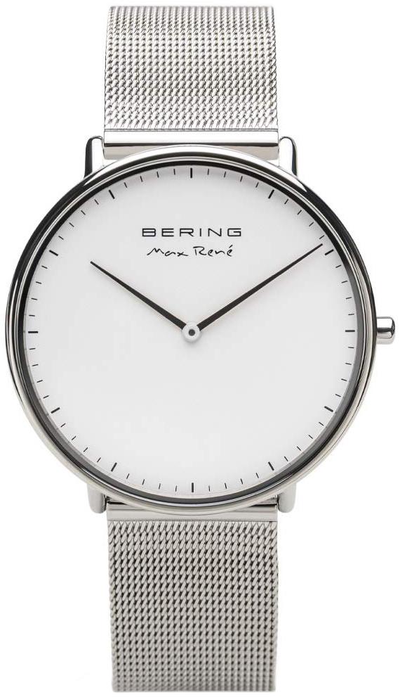 Bering Max Rene Herreklokke 15738-004 Hvit/Stål Ø38 mm - Bering