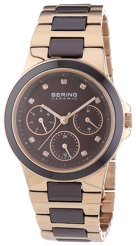 Bering Ceramic 32237-765 Brun/Rose-gulltonet stål Ø35 mm - Bering