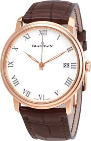 Blancpain Villeret Herreklokke 6630-3631-55B Hvit/Lær Ø42 mm - Blancpain