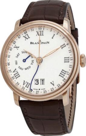 Blancpain Villeret Herreklokke 6637-3631-55B Hvit/Lær Ø42 mm - Blancpain