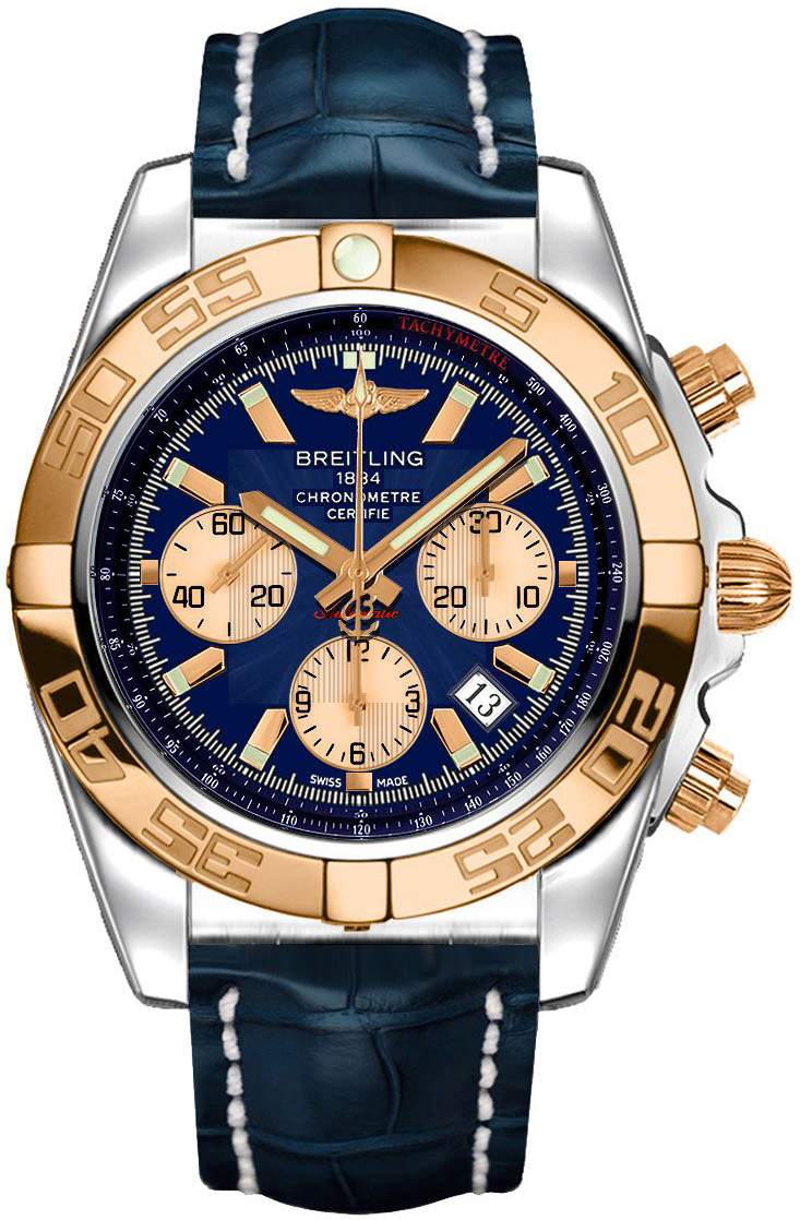 Breitling Chronomat 44 Herreklokke CB0110121C1P1 Blå/Lær Ø44 mm - Breitling