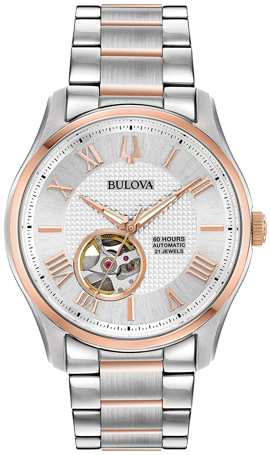 Bulova Classic Herreklokke 98A213 Sølvfarget/Rose-gulltonet stål - Bulova