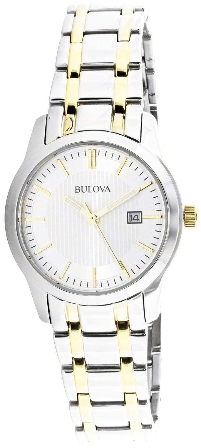 Bulova Dress Dameklokke 98M122 Sølvfarget/Gulltonet stål Ø30 mm - Bulova