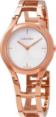 Calvin Klein Classic Dameklokke K6R23626 Sølvfarget/Rose-gulltonet - Calvin Klein