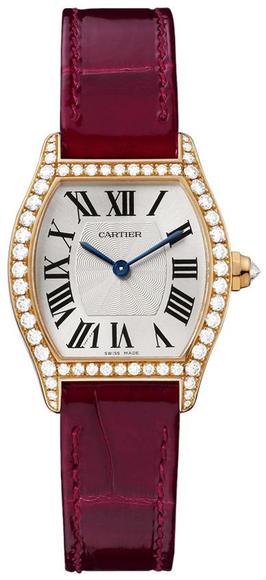 Cartier Tortue Dameklokke WA501006 Sølvfarget/Lær - Cartier