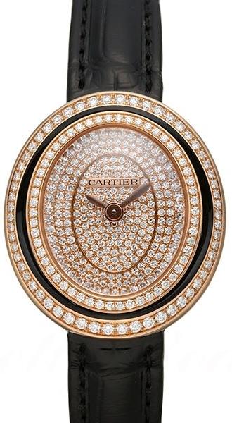 Cartier Hypnose Dameklokke WJHY0010 Diamantsmykket/Lær Ø26.2 mm - Cartier