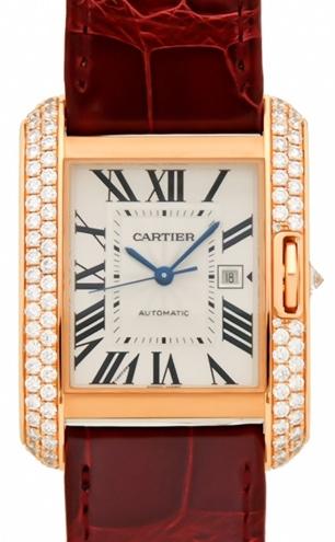 Cartier Tank Anglaise Herreklokke WT100016 Sølvfarget/Lær - Cartier