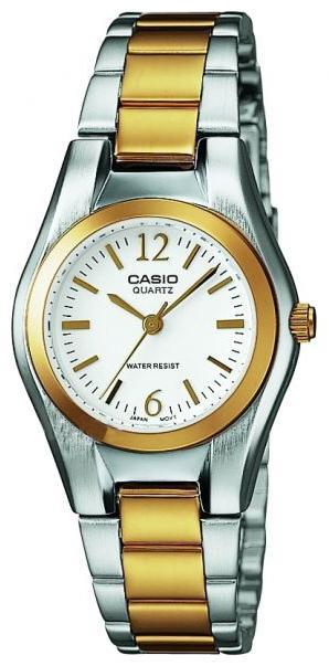 Casio Casio Collection Dameklokke LTP-1280PSG-7AEF Hvit/Gulltonet - Casio