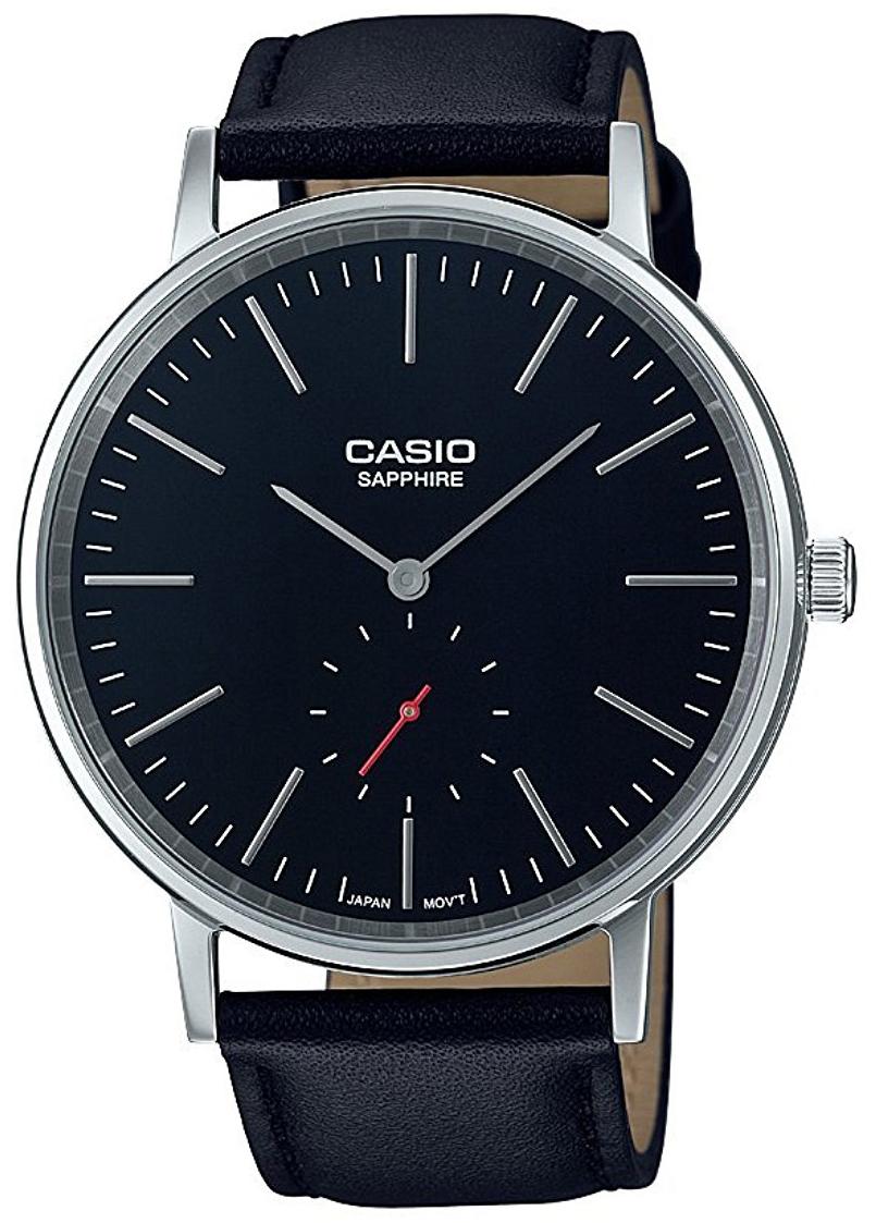 Casio Casio Collection Dameklokke LTP-E148L-1AEF Sort/Lær Ø40 mm - Casio