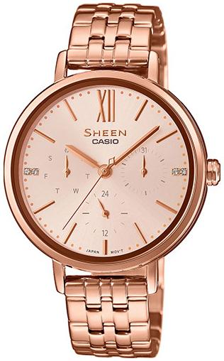 Casio Sheen Dameklokke SHE-3064PG-4AUER Rosegullfarget/Rose-gulltonet - Casio