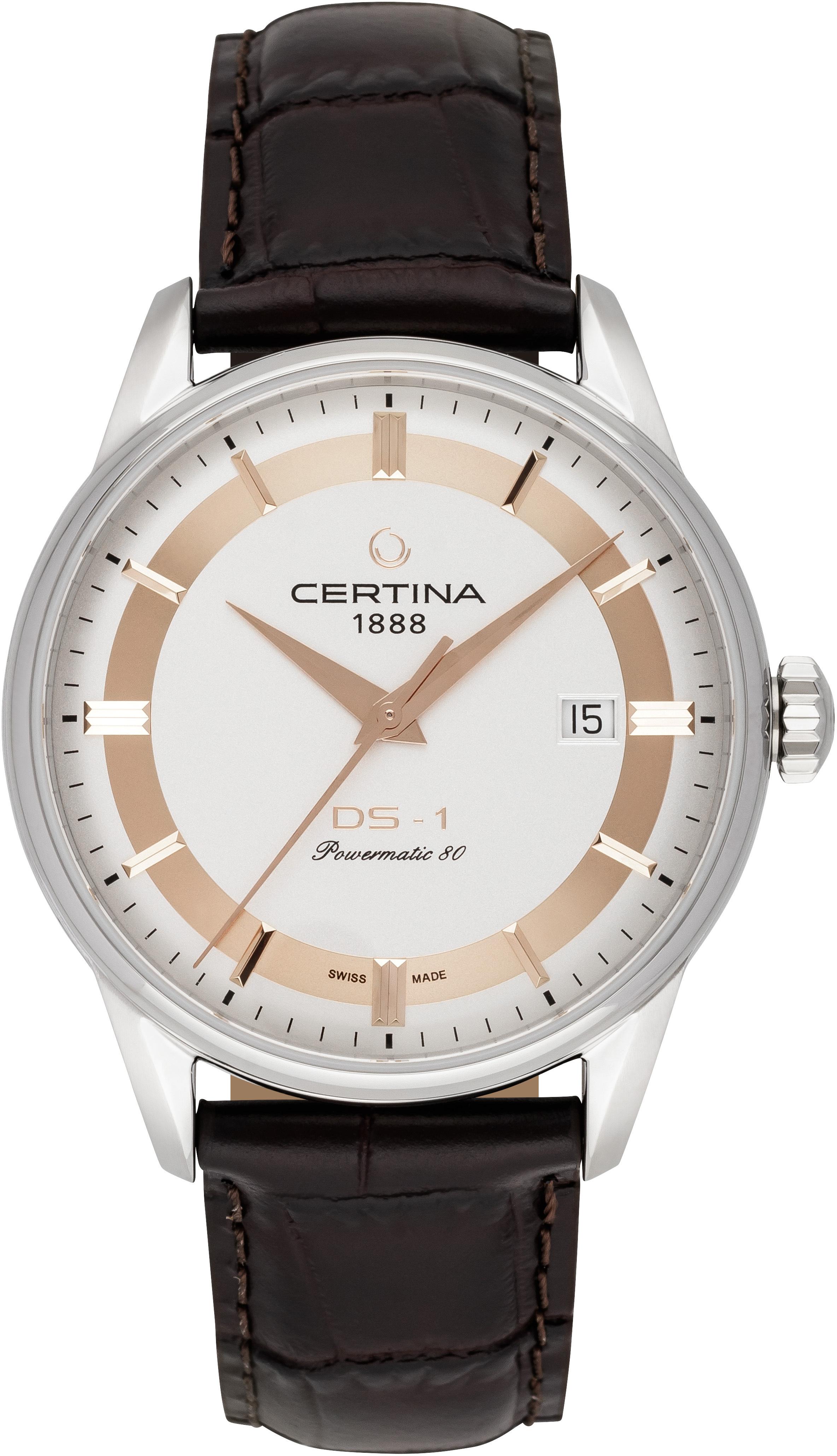 Certina DS 1 Herreklokke C029.807.16.031.60 Sølvfarget/Lær Ø40 mm - Certina