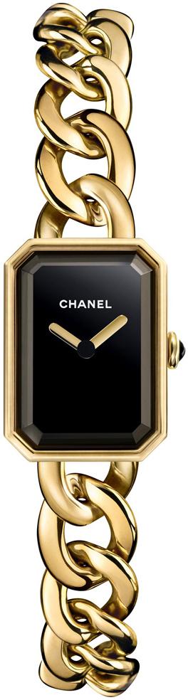 Chanel Premiere Dameklokke H3256 Sort/18 karat gult gull 16x22 mm - Chanel