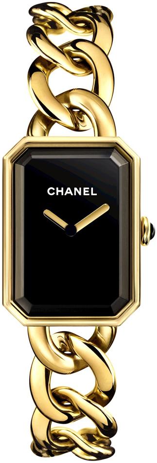 Chanel Premiere Dameklokke H3257 Sort/18 karat gult gull 20x28 mm - Chanel