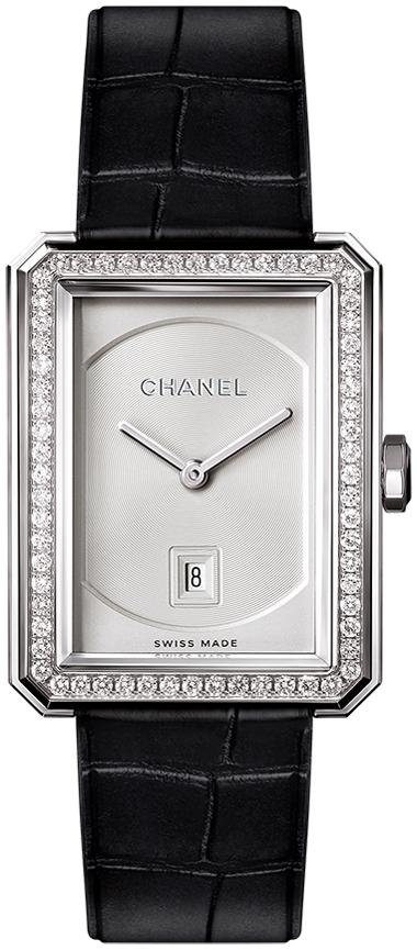 Chanel Premiere Dameklokke H4470 Sølvfarget/Lær - Chanel