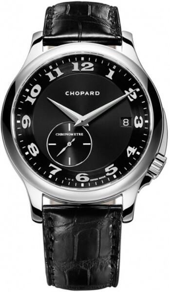 Chopard L.U.C Twist Herreklokke 161888-1003 Sort/Lær Ø41 mm - Chopard