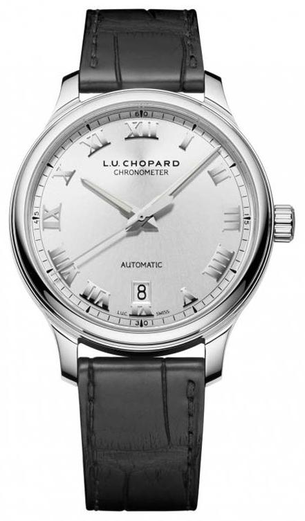 Chopard L.U.C 1937 Classic Herreklokke 168558-3001 Sølvfarget/Lær - Chopard