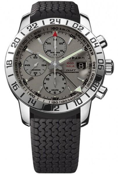 Chopard Classic Racing GMT Chrono Herreklokke 168992-3022 Grå/Gummi - Chopard