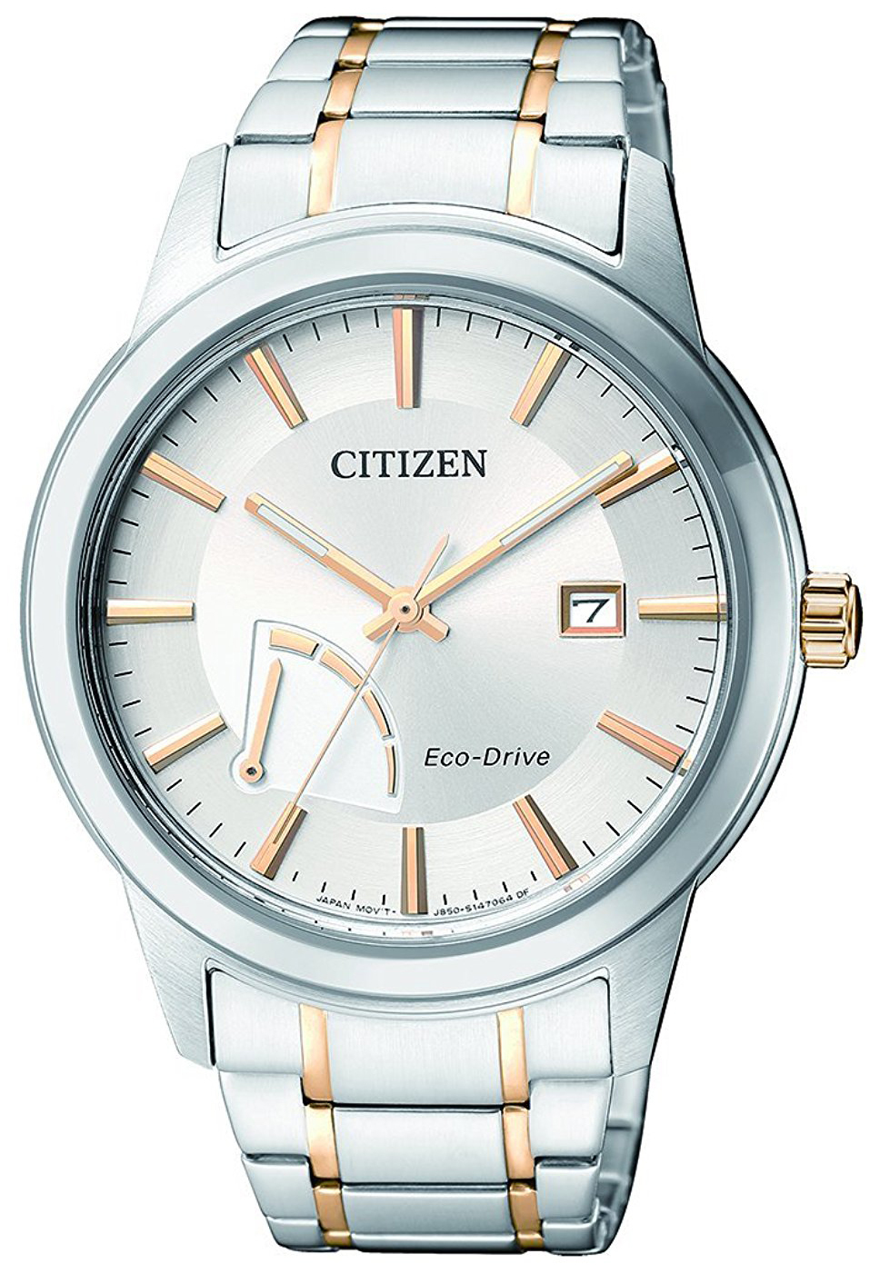 Citizen Dress Herreklokke AW7014-53A Sølvfarget/Gulltonet stål Ø40 - Citizen