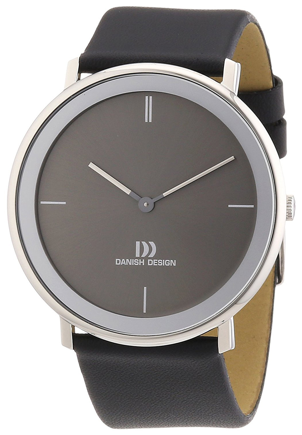 Danish Design Classic Herreklokke 3314441 Grå/Lær Ø40 mm - Danish Design