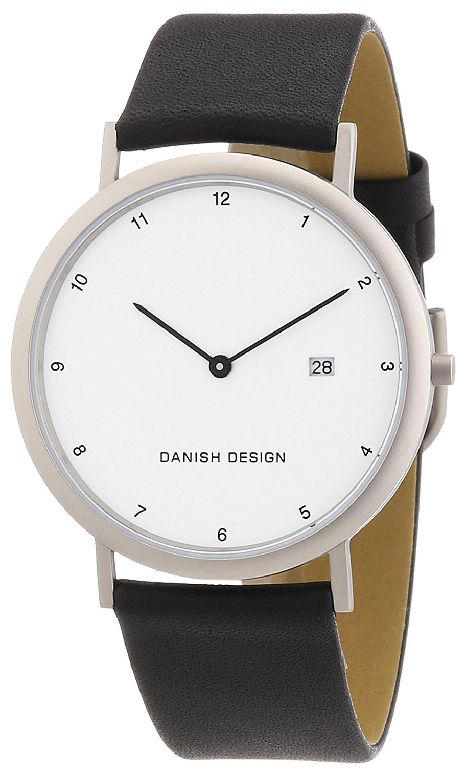 Danish Design Classic Herreklokke 3316313 Hvit/Lær Ø39 mm - Danish Design