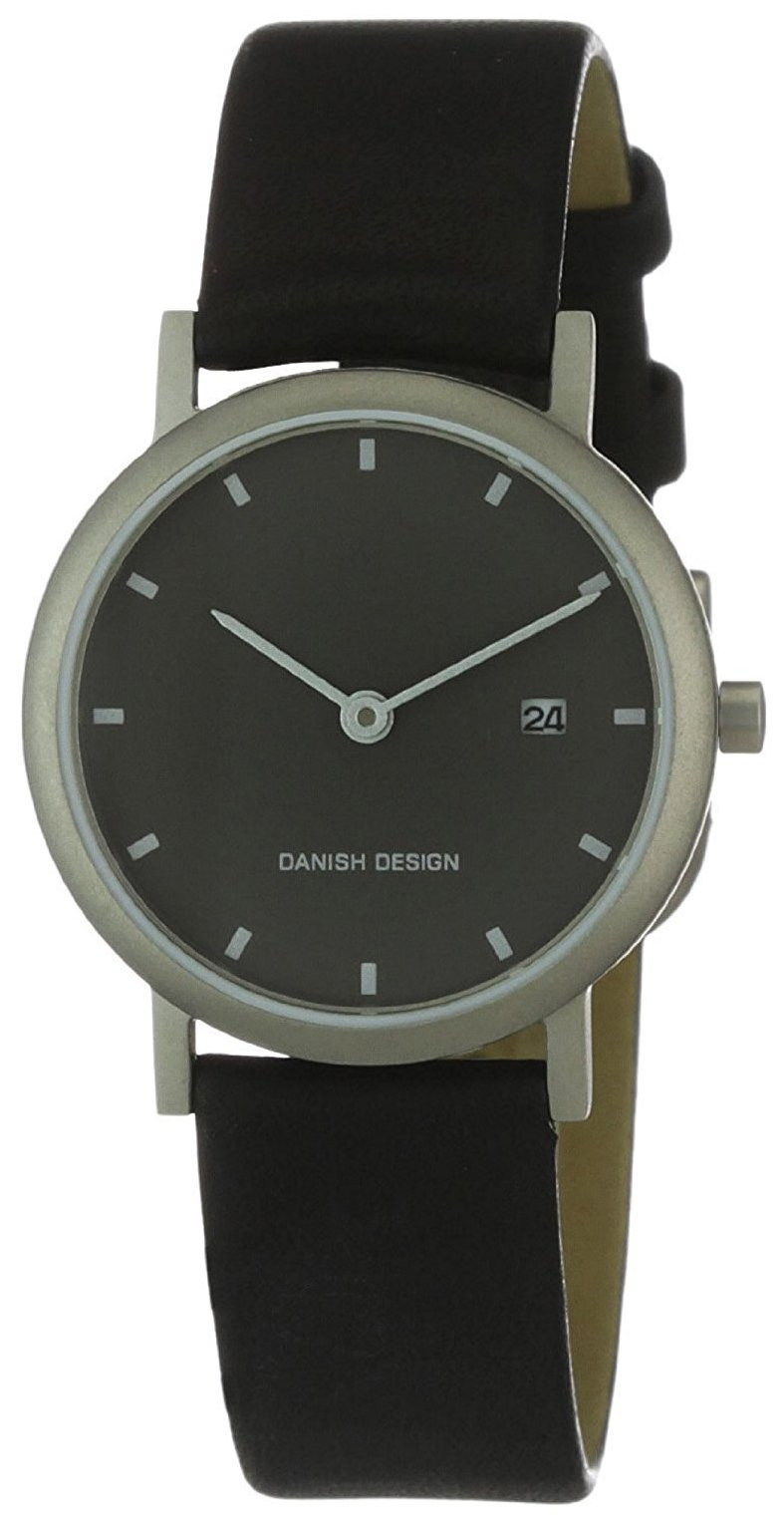 Danish Design Classic Dameklokke 3326180 Sort/Lær Ø28 mm - Danish Design
