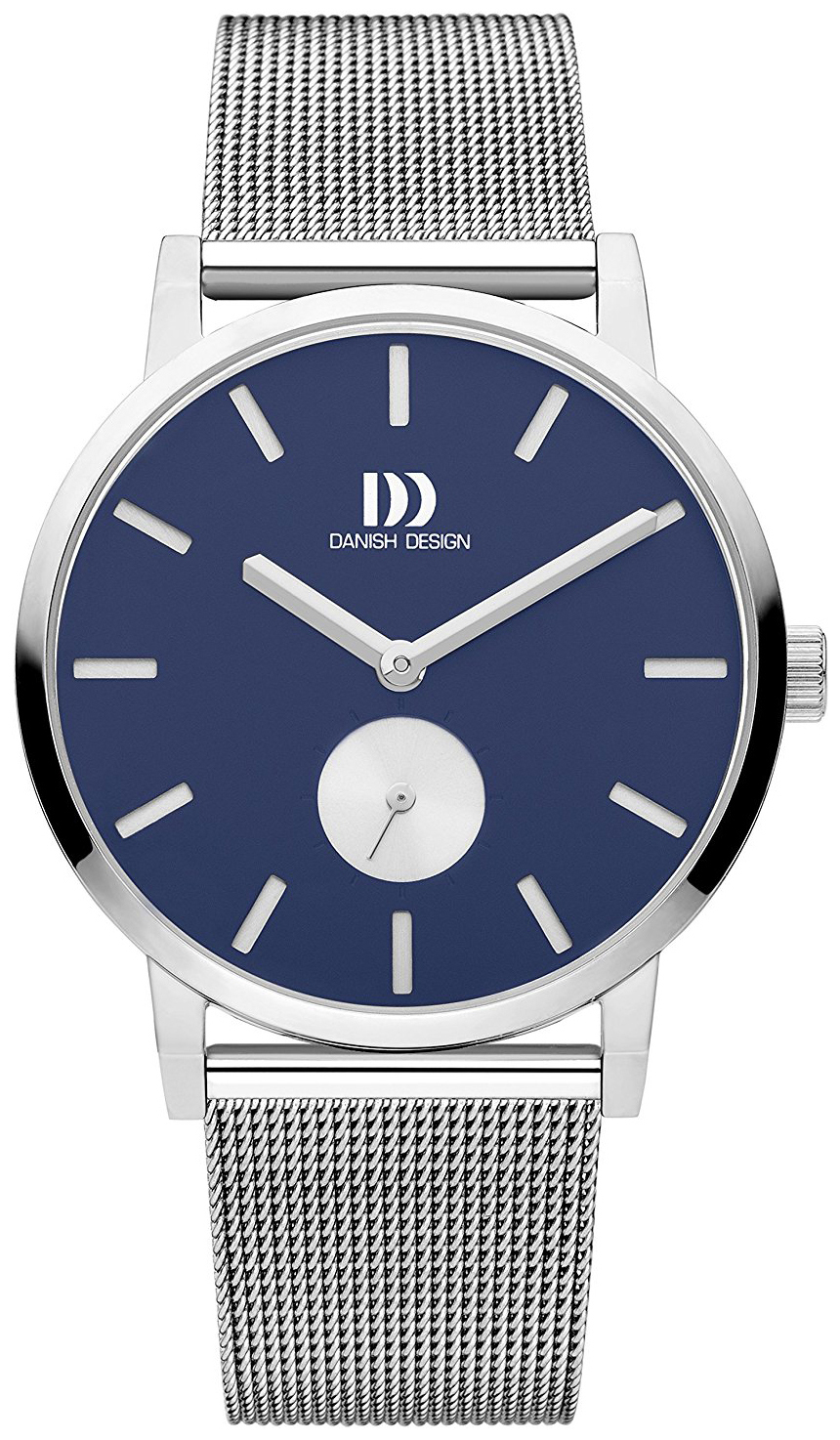 Danish Design Dress Herreklokke IQ68Q1219 Blå/Stål Ø39 mm - Danish Design