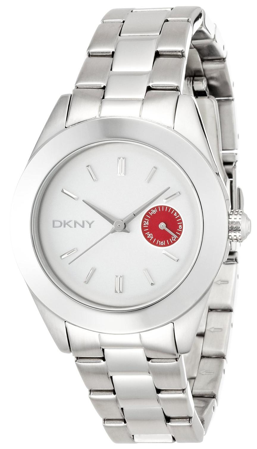 DKNY 99999 Dameklokke NY2131 Hvit/Stål Ø36 mm - DKNY