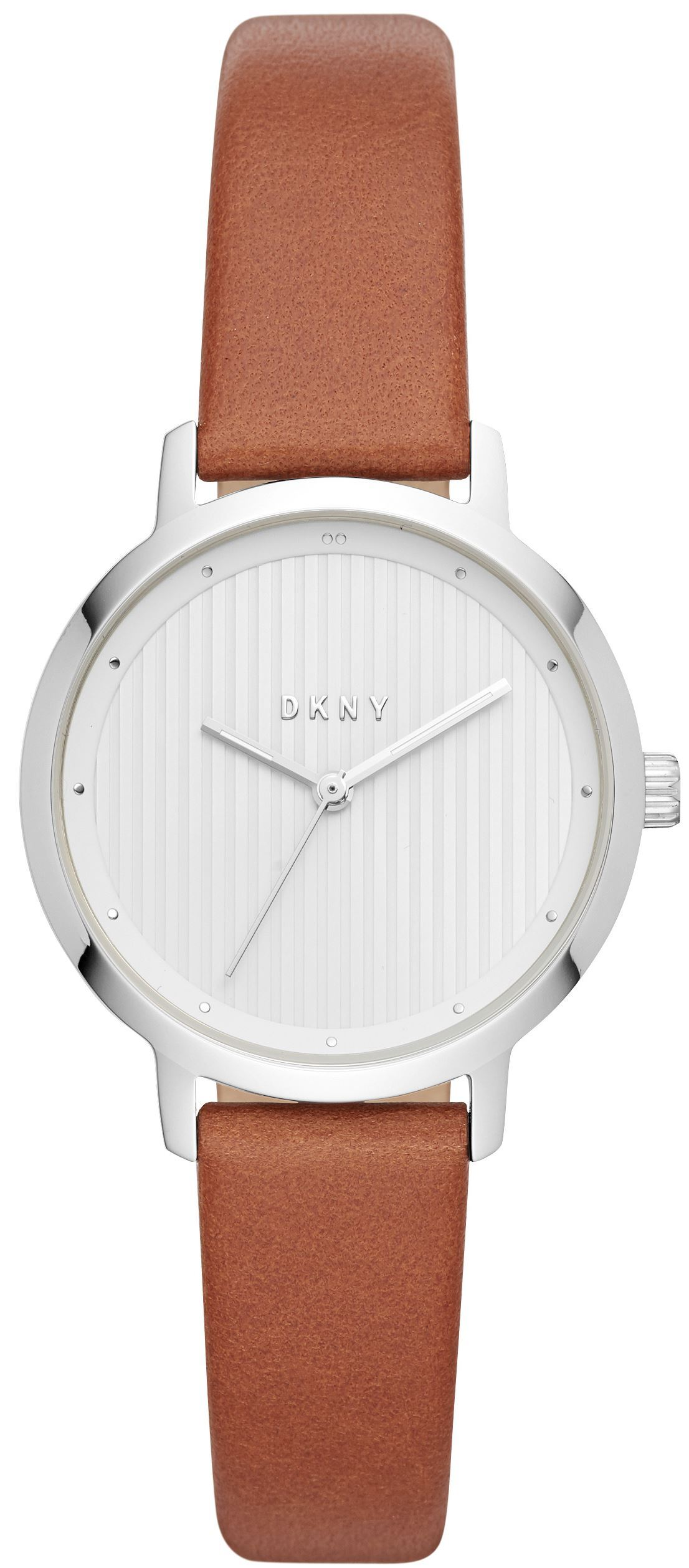 DKNY The Modernist Dameklokke NY2676 Hvit/Lær Ø32 mm - DKNY