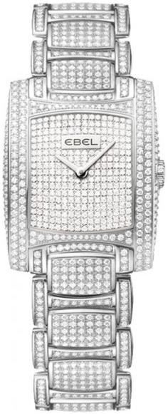 Ebel Brasilia Dameklokke 1290087 Sølvfarget/18 karat hvitt gull Ø34 - Ebel
