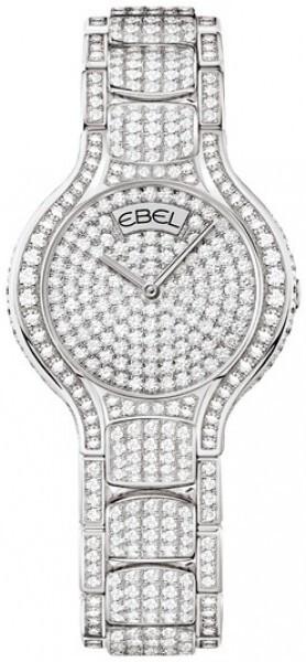 Ebel Beluga Dameklokke 1290098 Diamantsmykket/18 karat hvitt gull - Ebel