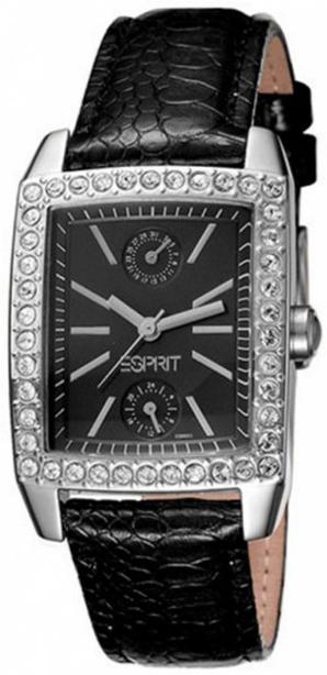 Esprit Sport Dameklokke ES103062002 Sort/Lær - Esprit