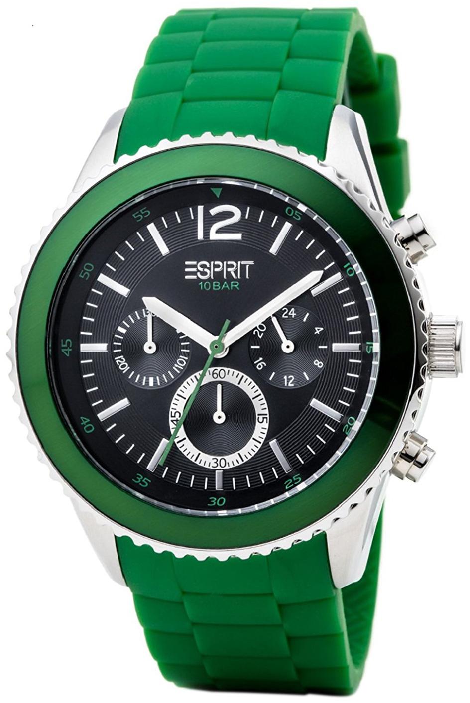 Esprit Sport Herreklokke ES105331007 Sort/Gummi Ø44 mm - Esprit