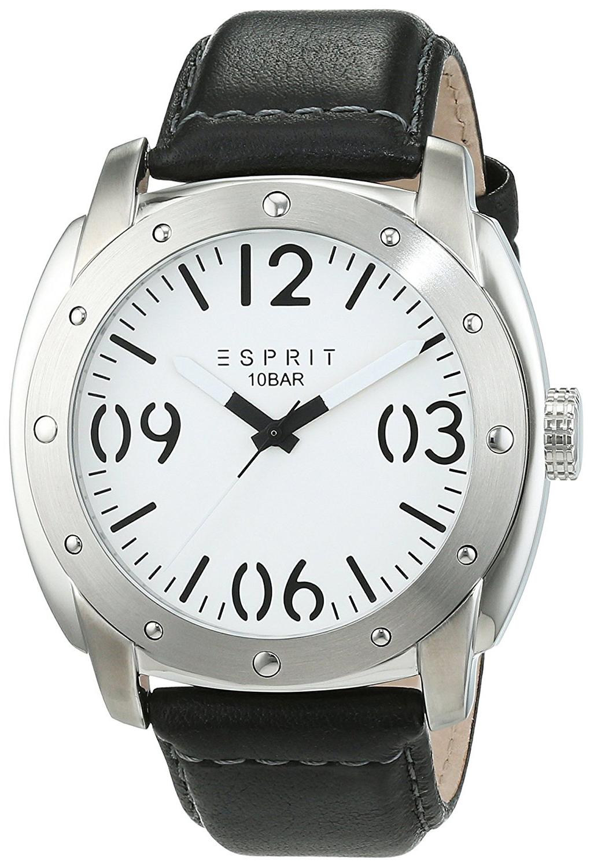 Esprit Dress Herreklokke ES106381002 Hvit/Lær Ø46 mm - Esprit