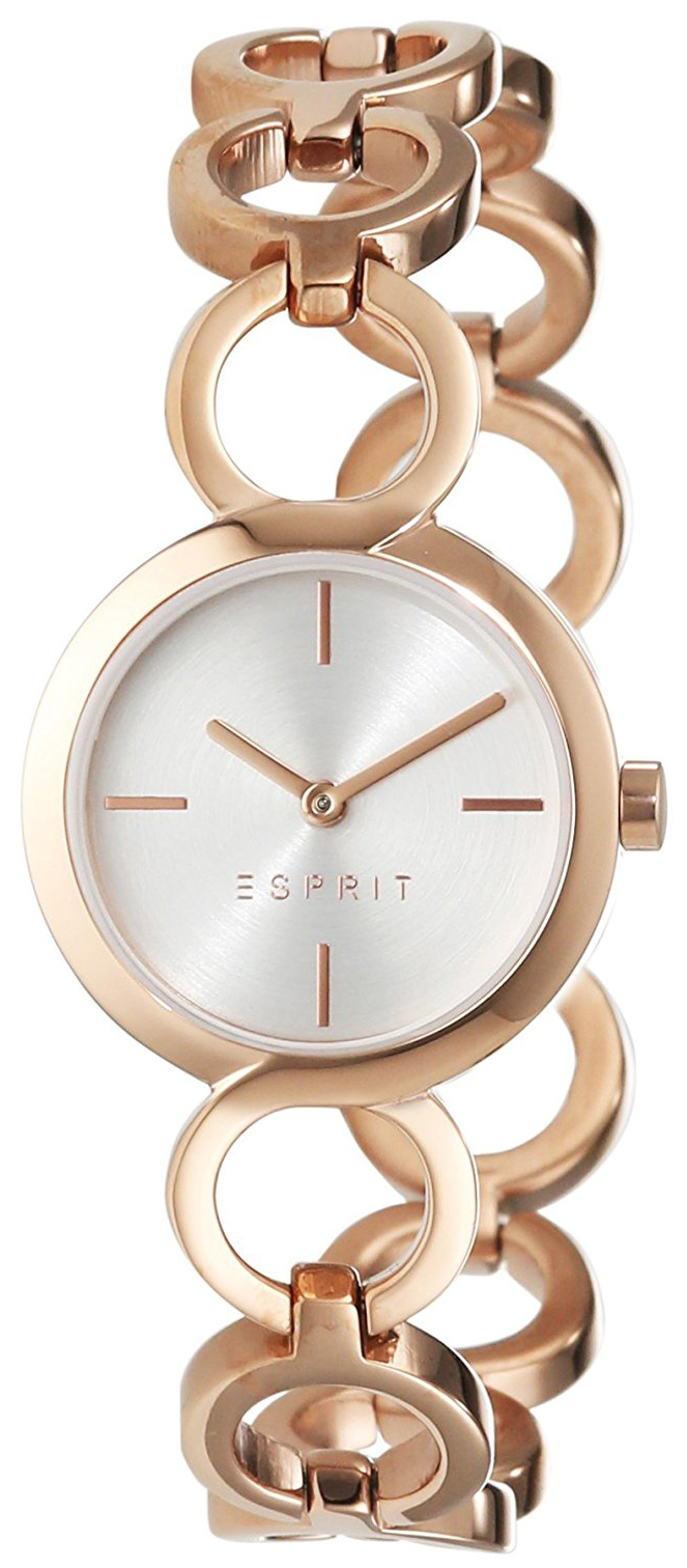 Esprit Dress Dameklokke ES108212003 Sølvfarget/Rose-gulltonet stål - Esprit
