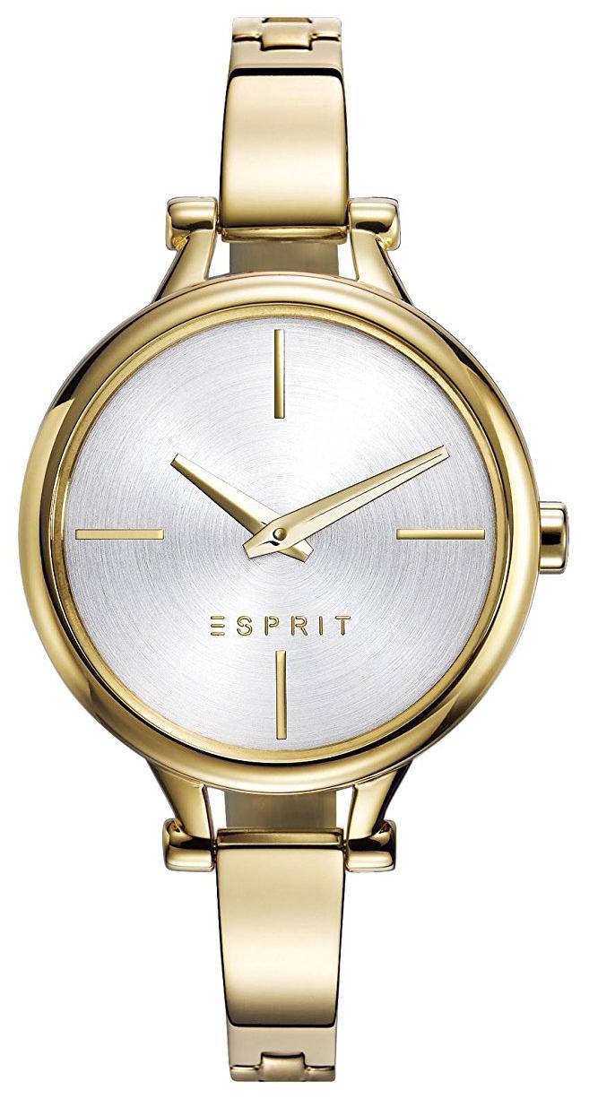 Esprit Dress Dameklokke ES109102003 Sølvfarget/Gulltonet stål Ø32 - Esprit