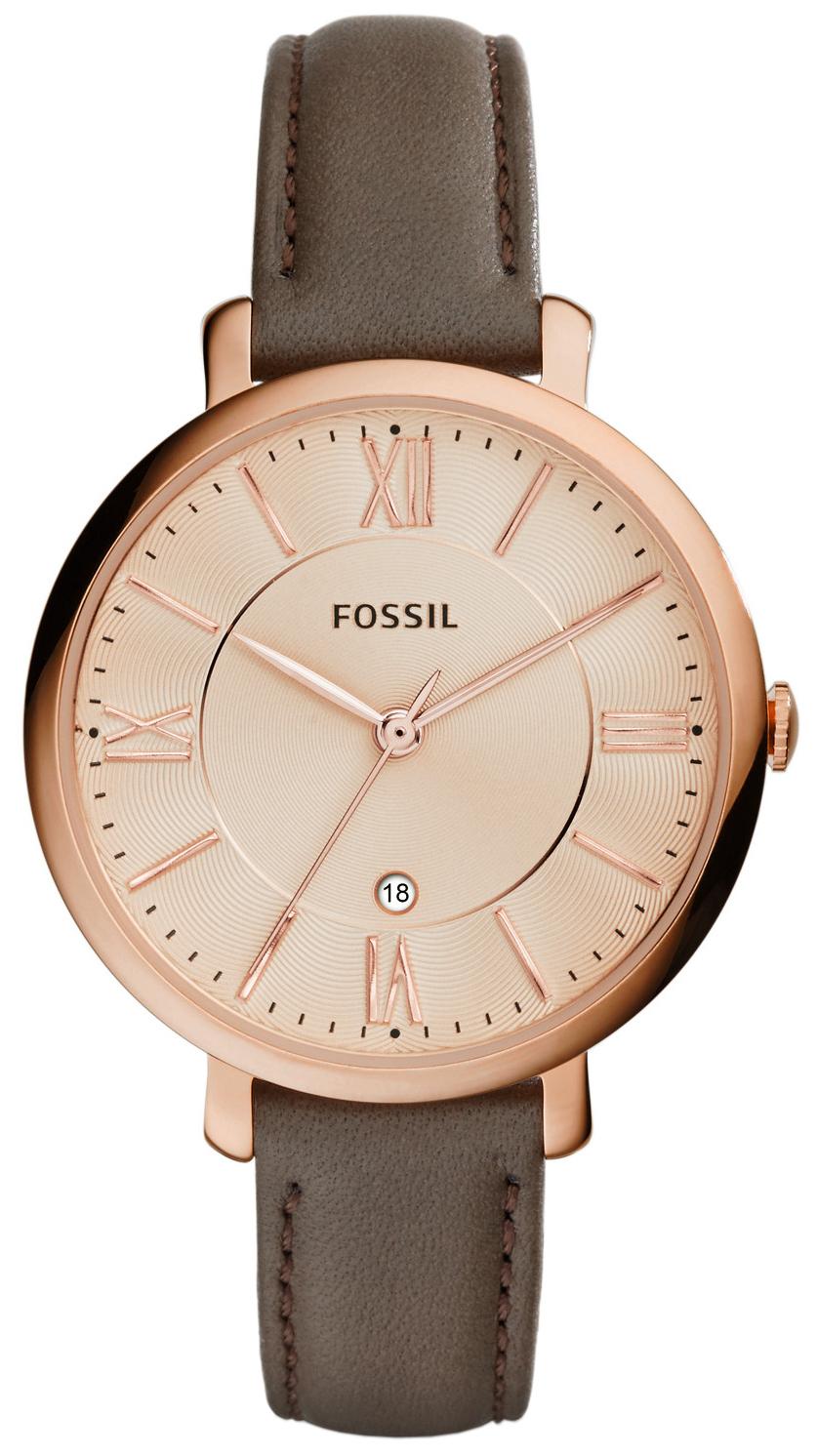 Fossil Dress Dameklokke ES3707 Rosegullfarget/Lær Ø36 mm - Fossil