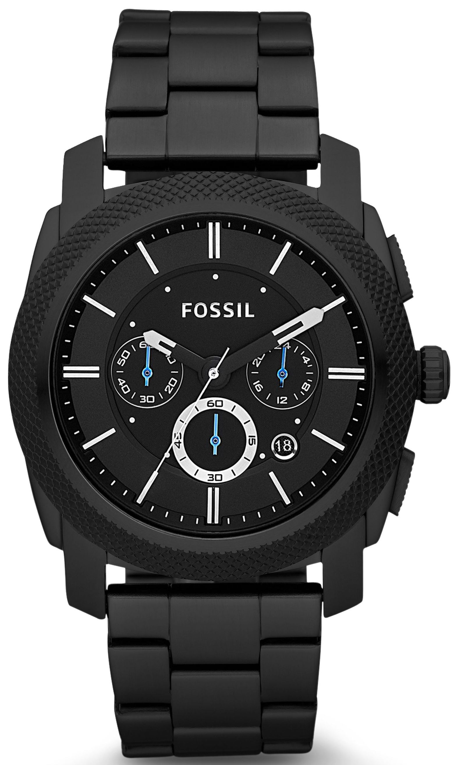 Fossil Machine Herreklokke FS4552 Sort/Stål Ø45 mm - Fossil