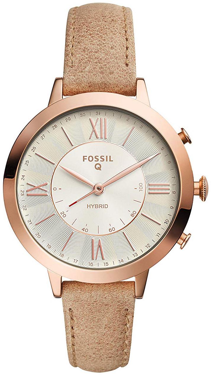 Fossil Jacqueline Dameklokke FTW5013 Hvit/Lær Ø38 mm - Fossil